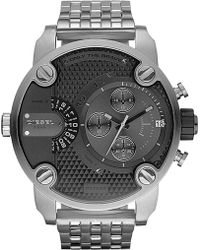 Diesel Baby Daddy Stainless Steel Watch Grey - Lyst