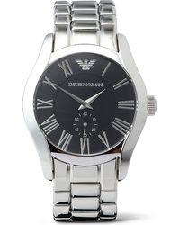 Emporio Armani Stainless Steel Bracelet Watch Black - Lyst