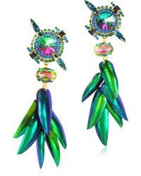 Erickson Beamon - Aquarela Do Brasil Crystals Clip On Earrings - Lyst