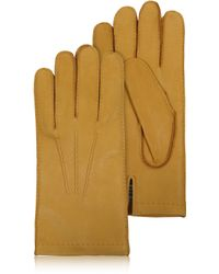 FORZIERI - Men's Cashmere Lined Deer Italian Leather Gloves - Lyst