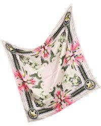 Givenchy - Star Chain Diamond Print Twill Silk Wrap - Lyst