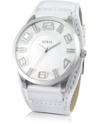 Guess - Mens Oversize Leather Watch - Lyst