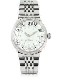 John Galliano - Women'S Crystal White Dial Watch - Lyst