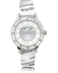 John Galliano - Parlez Moi D'Amour - Stainless Steel With Leather Strap Watch - Lyst