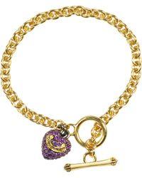 Juicy Couture - Pave Heart Wish Bracelet - Lyst