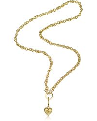 Juicy Couture - Chunky Link Heart Catcher Necklace - Lyst