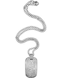 Just Cavalli - Touch - Signature Plate Pendant Necklace - Lyst