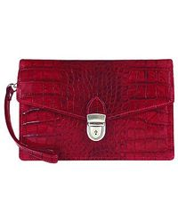 L.A.P.A. - Cherry Croco-embossed Leather Clutch - Lyst