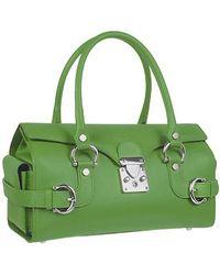 L.A.P.A. - Horsebit Detail Leather Satchel Flap Bag - Lyst