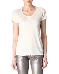 Maje Athee Brushed Silk T Shirt - Lyst