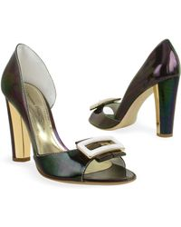 Mario Bologna - Dark Purple Patent Leather Pump Shoes - Lyst