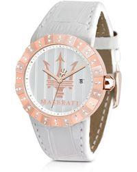 Maserati - Tridente - Rose Golden Stainless Steel Women'S Watch - Lyst