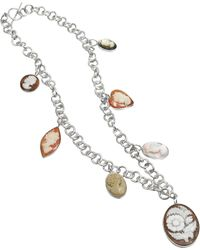 Mia & Beverly Cameo Charm Necklace - Lyst