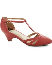ModCloth Just Prance Heel in Punch - Lyst