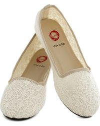 ModCloth White Shorefooted Flat - Lyst