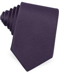 Moreschi - Solid Silk Skinny Tie - Lyst