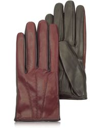 Patrizia Pepe - Two Tone Fur-Lined Leather Gloves - Lyst