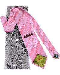 Roberto Cavalli - Tonal Band Animal Print Woven Silk Tie - Lyst