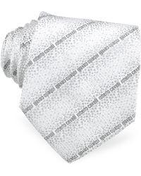 Roberto Cavalli - Signature Lines Woven Silk Tie - Lyst