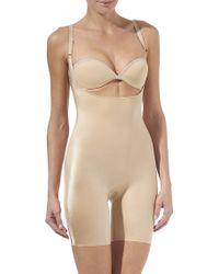 Spanx Slimplicity Openbust Slip Suit Nude - Lyst