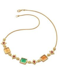 Tagliamonte - Classic Collection - 18k Gold And Ruby Necklace - Lyst