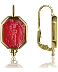 Tagliamonte - Classics Collection - Red 18k Gold Drop Earrings - Lyst