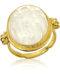 Tagliamonte - Three Graces - 18k Gold White Mother Of Pearl Cameo Ring - Lyst