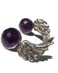 Toosis Amethyst Angel Wings Earrings - Lyst