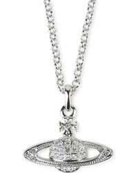 Vivienne Westwood Bas Relief Orb Pendant Necklace - Lyst