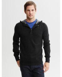 Banana Republic Half Zip Hooded Pullover - Lyst