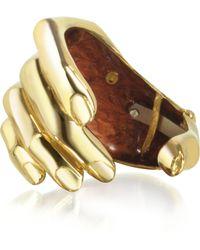 Bernard Delettrez Hand Bronze Cuff Bracelet - Lyst