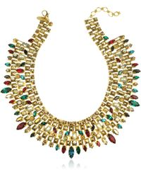 Erickson Beamon - Matador Goldplated Crystal Necklace - Lyst