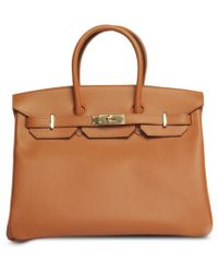 Hermès Pre-Owned: Gold Courchevel Leather 'Birkin 30' Bag brown - Lyst