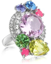 Juicy Couture - Gemstone Cluster Ring - Lyst