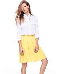 Mango Pleated Skirt - Lyst