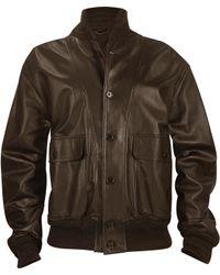 Schiatti & Co. Men'S Dark Brown Italian Nappa Leather Two-Pocket Jacket - Lyst