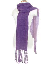 Basile - Twotone Reversible Knit Long Scarf - Lyst