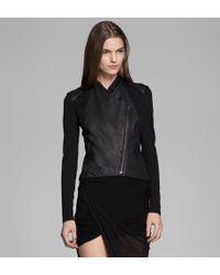 Helmut Lang Washed Leather Jacket - Lyst