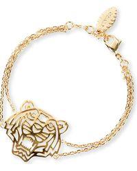 Kenzo Tiger Charm Bracelet Gold - Lyst