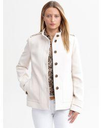 Banana Republic Textured Cotton Jacket - Lyst