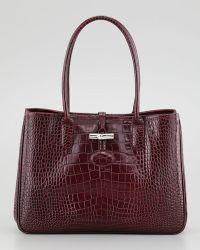 Longchamp Roseau Croc Shoulder Bag 108
