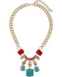 Topshop Earth Child Charm Necklace - Lyst
