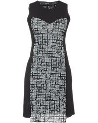 Almeria Sleeveless Crew Neckline Gray Short Dress - Lyst