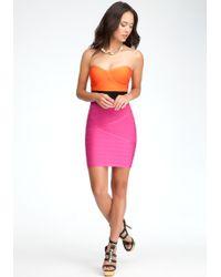 Bebe Colorblock Dress