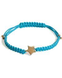 Marc By Marc Jacobs - Multi Woven Star Bracelet in Aqua Foil - Lyst