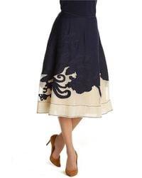 Nic + Zoe Patio Party Flirt Skirt blue - Lyst