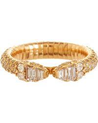 Repossi - Diamond Pink Gold Ophydienne Ring - Lyst