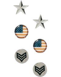 River Island | Stars Stripes Earrings in 4 Pack | Lyst