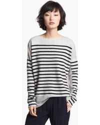 Vince Linked Stripe Cashmere Sweater - Lyst