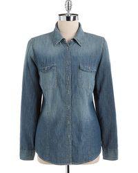 Vintage America - Lara Denim Shirt - Lyst